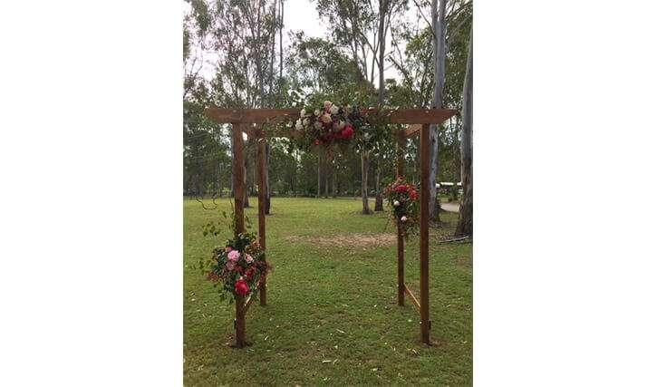 4 Post Wooden Arbour
