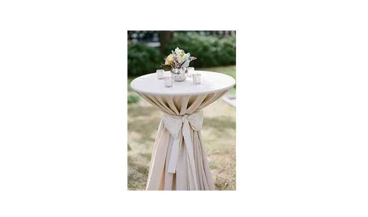 Dry Bar Table with Tablecloth
